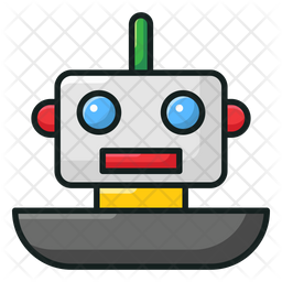 Toy Robot Colored Outline Icon