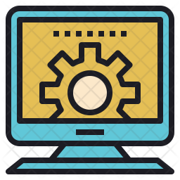 Track Colored Outline Icon