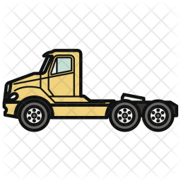 Tractor, Truck, Car, Vehicle, Automobile, Transport Icon
