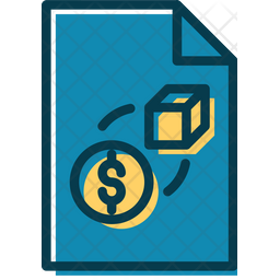Trade Lessons File Colored Outline Icon