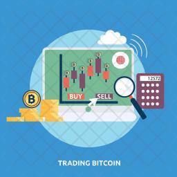Trading Bitcoin Icon