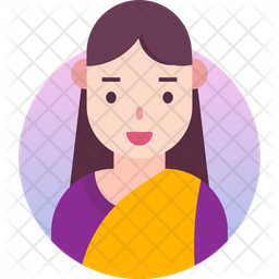 Traditional girl Gradient Icon