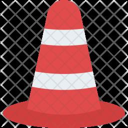 Traffic Cone Flat Icon