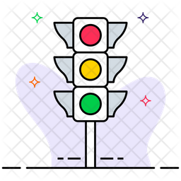 Traffic signals Colored Outline Icon