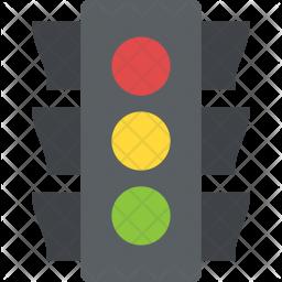 Traffic Signals Flat Icon