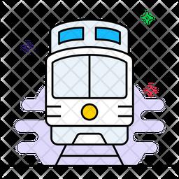 Train Colored Outline Icon