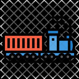 Train Container Colored Outline Icon