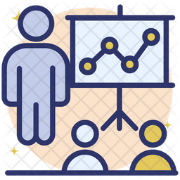 Training Seminar Icon Of Colored Outline Style Available In Svg Png Eps Ai Icon Fonts