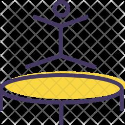 Trampoline Colored Outline Icon