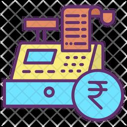 Transaction Invoice Rupees Icon