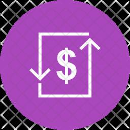 Transcation Glyph Icon
