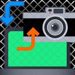 Transfer Photo Gradient Icon