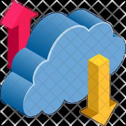 Transferring Data Isometric Icon