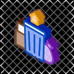 Trash Isometric Icon