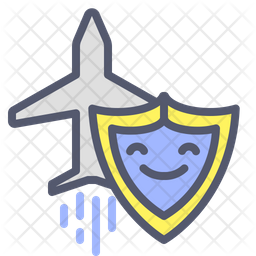 Travel assurance Colored Outline Icon
