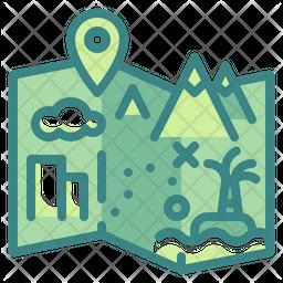 Travel Map Icon