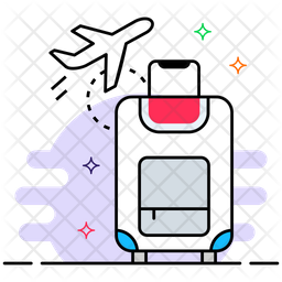 Travel Suitcase Colored Outline Icon