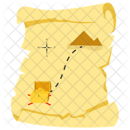 Treasure Map Flat Icon