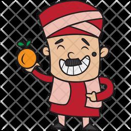 Treasurer With Apple Sticker Icon