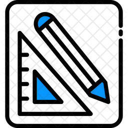 Triangle Ruler And Pencil Icon