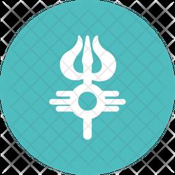 Trisula Flat Icon