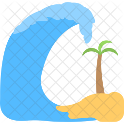 Tropical Storm Flat Icon