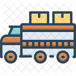 Truck Colored Outline Icon