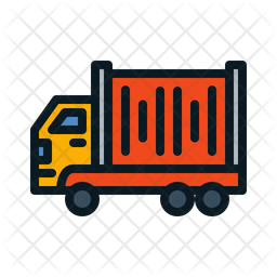 Truck Container Colored Outline Icon