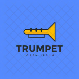 Trumpet Logo Colored Outline Icon