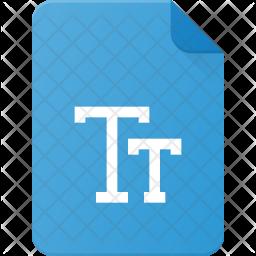 Tt file Flat Icon