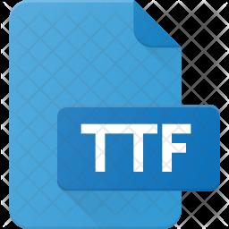 Ttf file Flat Icon