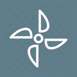 Turbine Line Icon