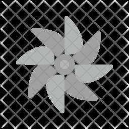 Turbine Flat Icon