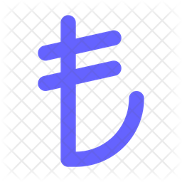 Turkish lira Flat Icon