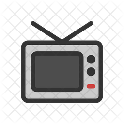 Tv Colored Outline Icon