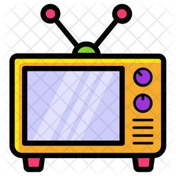 Tv Icon Of Colored Outline Style Available In Svg Png Eps Ai Icon Fonts