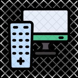 Tv And Remote Icon