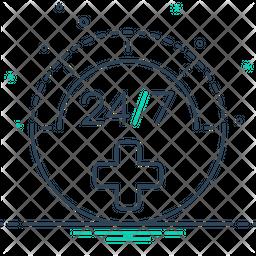 Twenty Four By Seven Icon