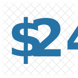 Twenty Four Dollar Icon
