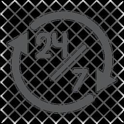 Twenty Four Hour Service Icon