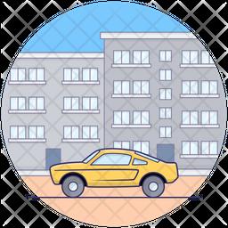 Two Door Car Icon