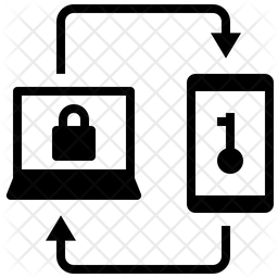 Two Factor Verification Glyph Icon