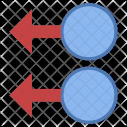 Two figure swipe left Icon