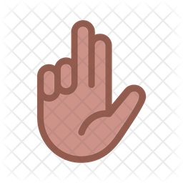 Two Finger Icon Of Colored Outline Style Available In Svg Png Eps Ai Icon Fonts