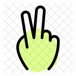 Two Finger Colored Outline Icon