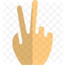 Two Finger Flat Icon