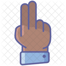 Two Fingers Colored Outline Icon