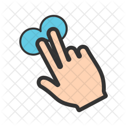 Two fingers tap Icon
