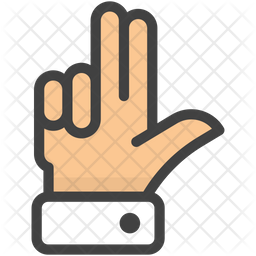 Two Fingers Up Emoji Icon
