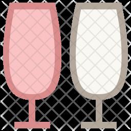 Two Glasses Icon